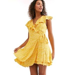 Free People NWT French Quarter Wrap Leopard Dress